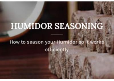 humidor seasoning