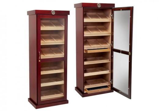 The Barbatus Wooden Cabinet Humidor by Prestige Import Group - 4000 Cigar ct